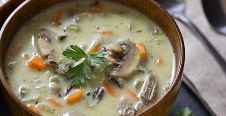 Грибний суп з перловкою