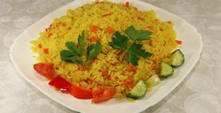 Нешліфований рис з овочами