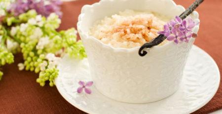 Рисовий пудинг з фруктами